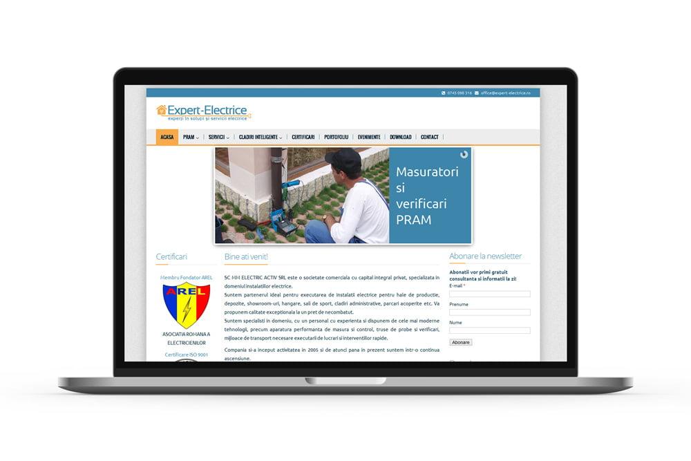 Site de prezentare electrician - Expert Electrice