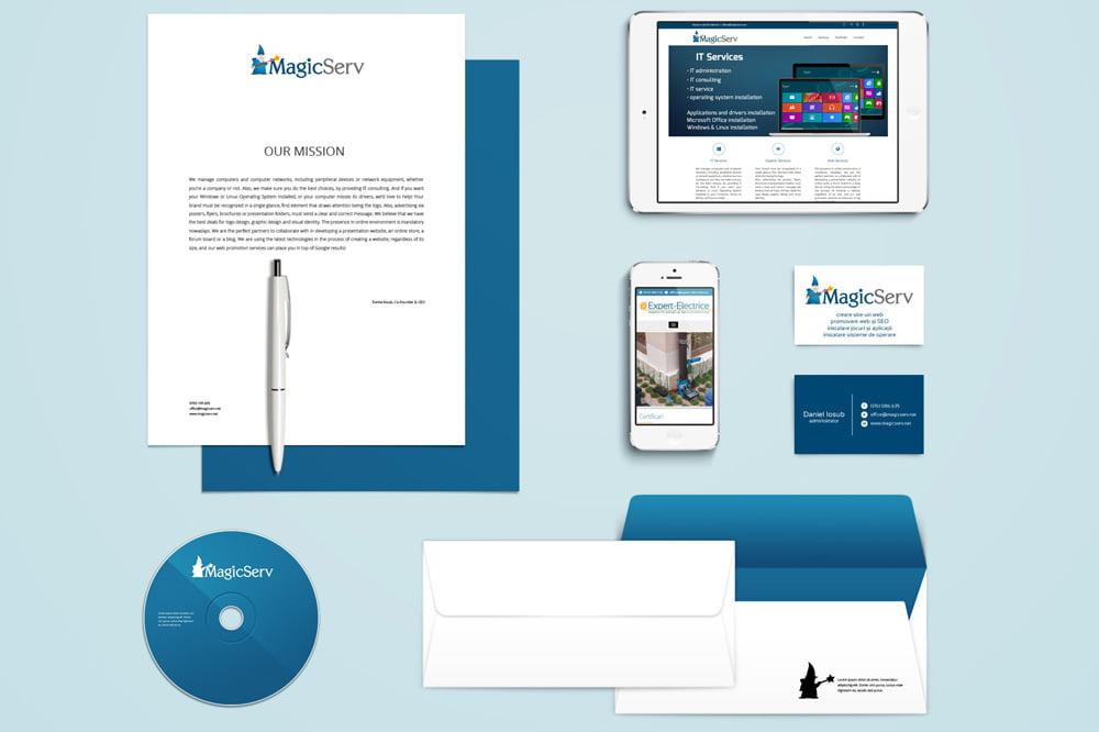Identitate vizuala - Branding - Naming - Rebranding - Mape de prezentare - Foi cu antet - Plicuri personalizate - Design Logo