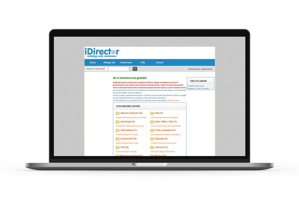 Creare portal web - Director web