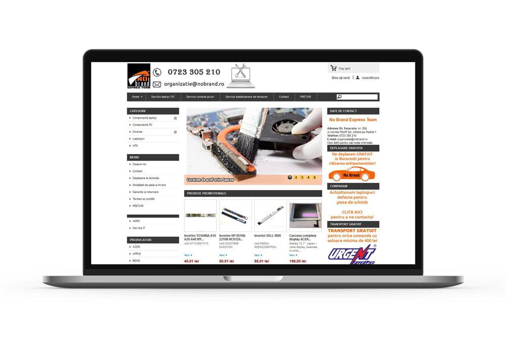 Realizare magazin online - magazin virtual - NoBrand