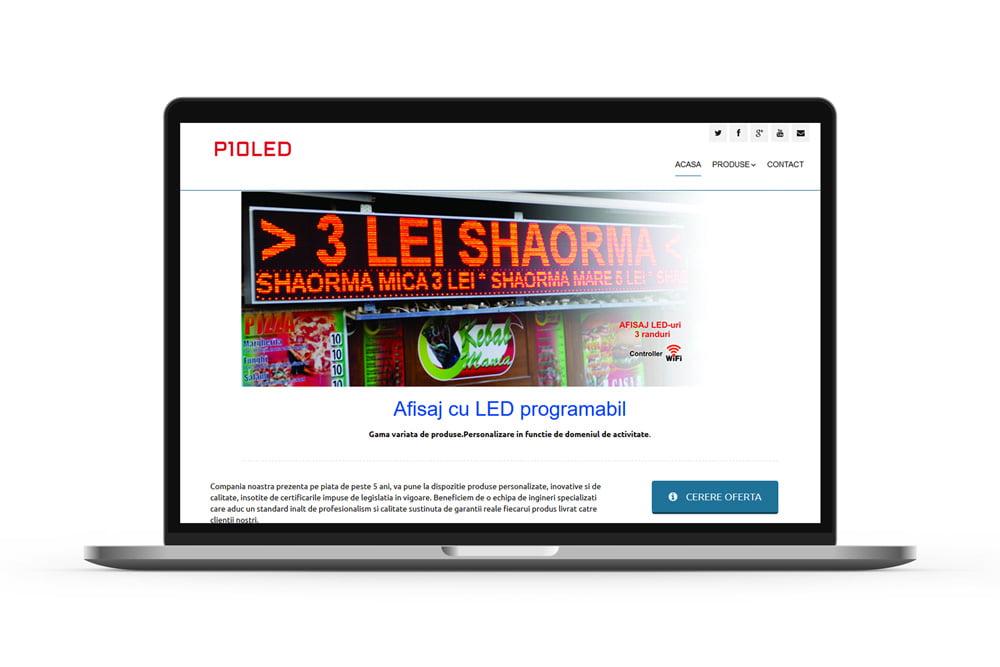 Realizare site de prezentare - P10LED