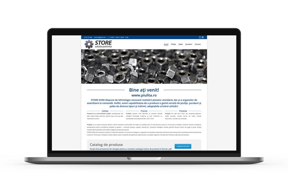Realizare site de prezentare - Piulita