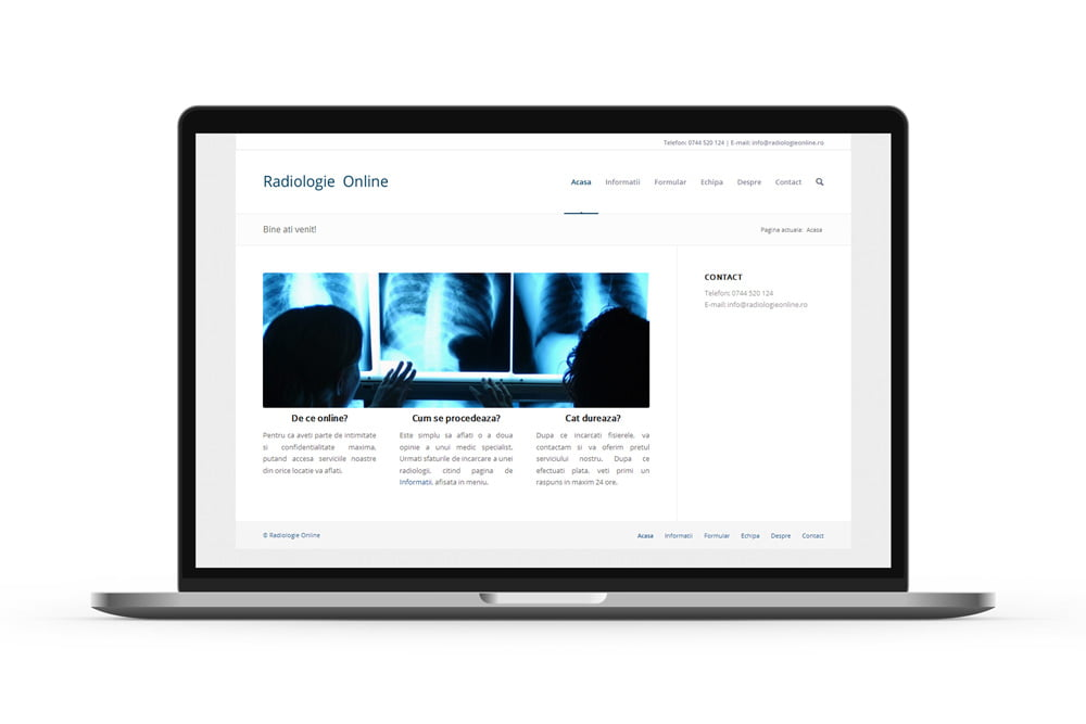 Creare site web - Radiologie Online