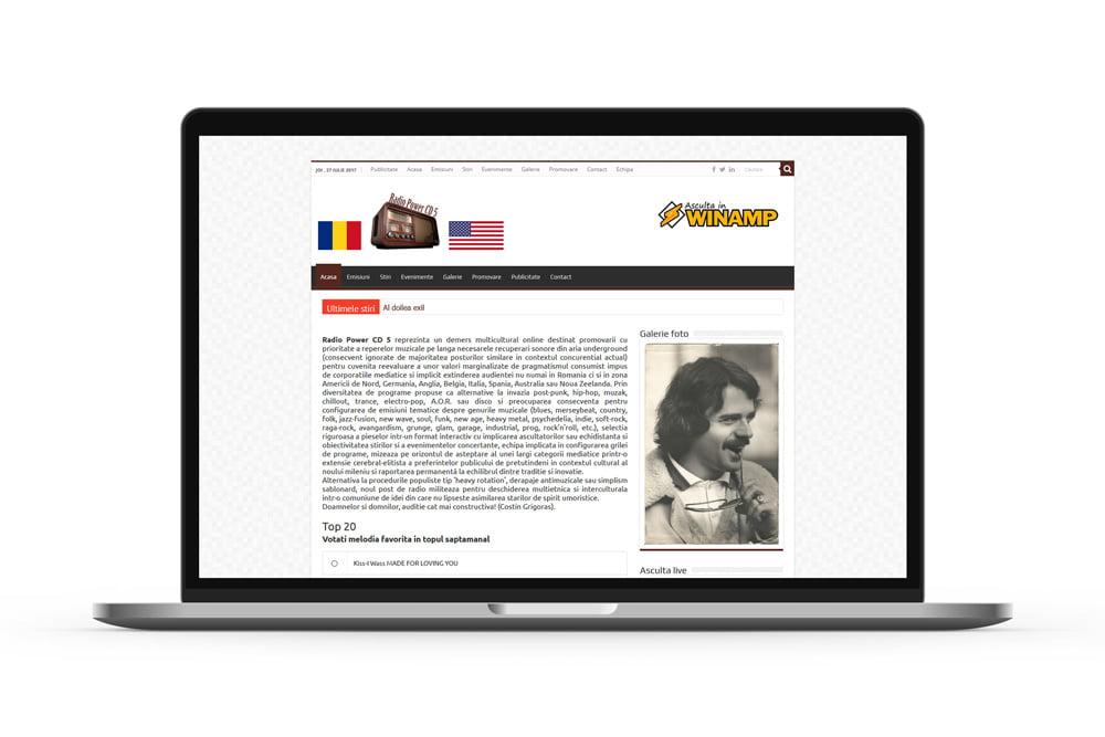 Dezvoltare portal web - Radio Power CD 5