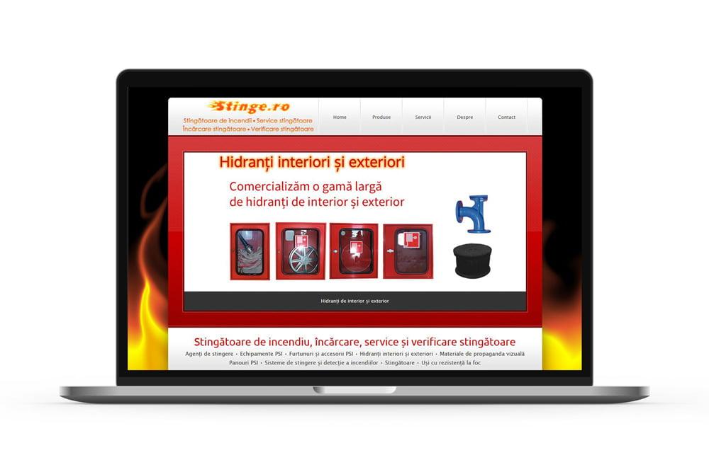 Realizare site web pentru stingatoare de incendiu - Stinge
