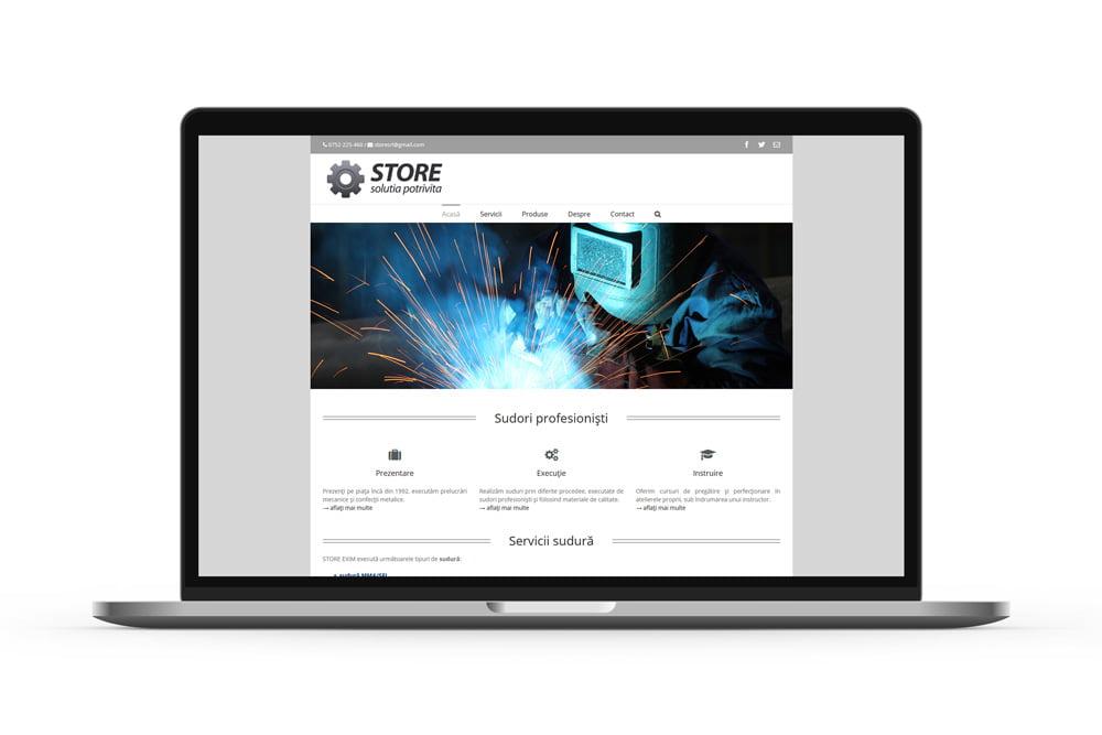 Realizare site de prezentare servicii - Sudori