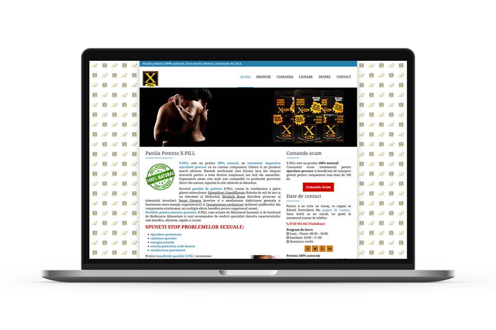 Creare site de prezentare si vanzare - X-Pill