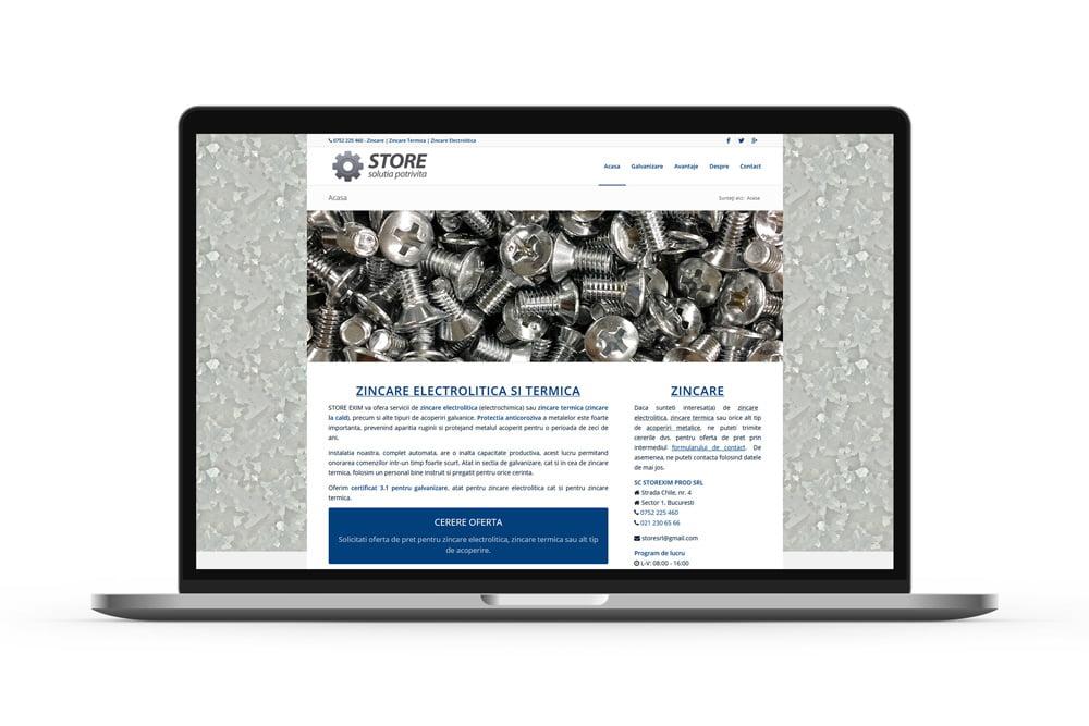 Realizare site de prezentare - Zincare Bucuresti